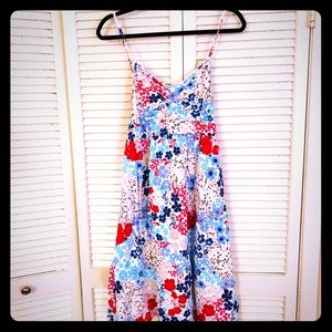 🌸NEW🌸EUC VTG pinup strappy floral summer dress